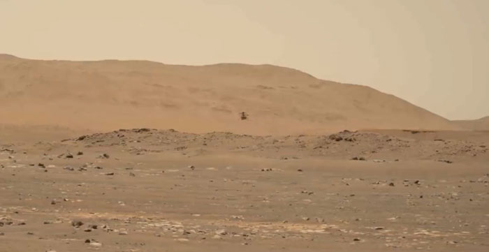 Lần đầu tiên ghi lại âm thanh của trực thăng sao Hỏa