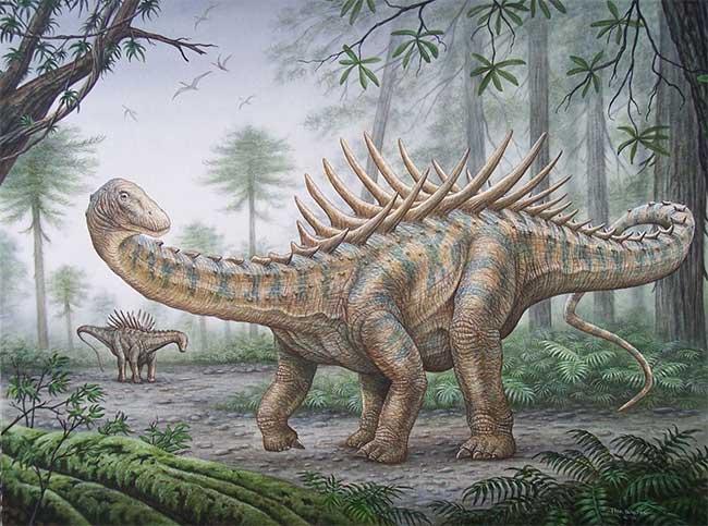Loài khủng long khổng lồ kỳ dị có hình dạng như một... con nhím