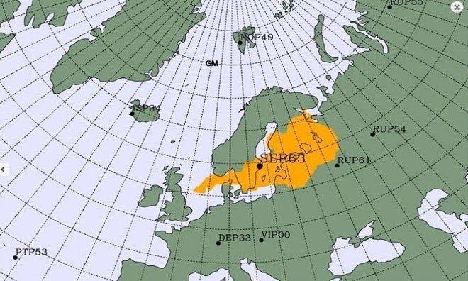 Lượng phóng xạ tăng không rõ nguyên nhân ở Bắc Âu