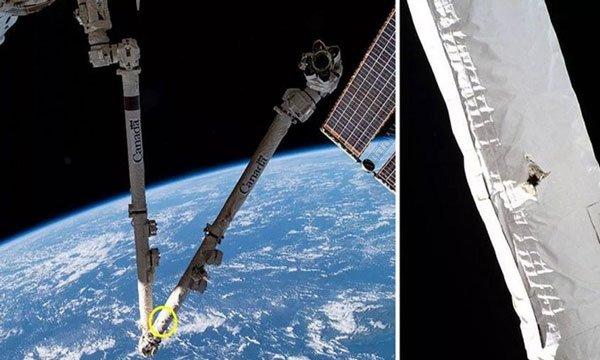 Mảnh rác vũ trụ đâm thủng cánh tay robot của trạm ISS
