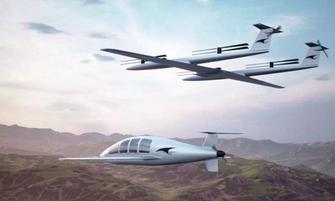 Máy bay điện tách rời hệ thống cất hạ cánh thẳng đứng