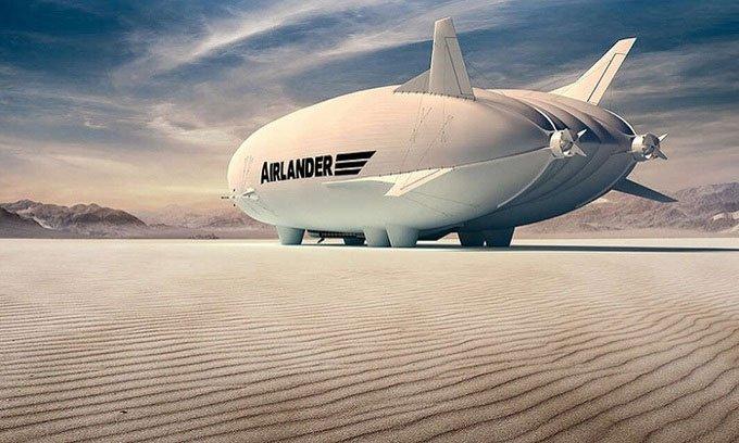 Máy bay lai khinh khí cầu có thể chở 100 hành khách