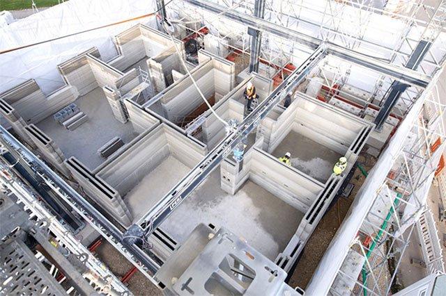 Máy in 3D tốc độ lên tới 10 tấn bê tông mỗi giờ