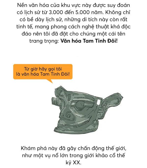 Một phút để hiểu tại sao Tam Tinh Đôi có thể viết lại lịch sử Trung Quốc