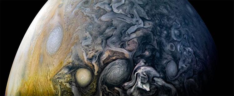 Một sao Mộc Jupiter tuyệt đẹp dưới góc nhìn của tàu Juno