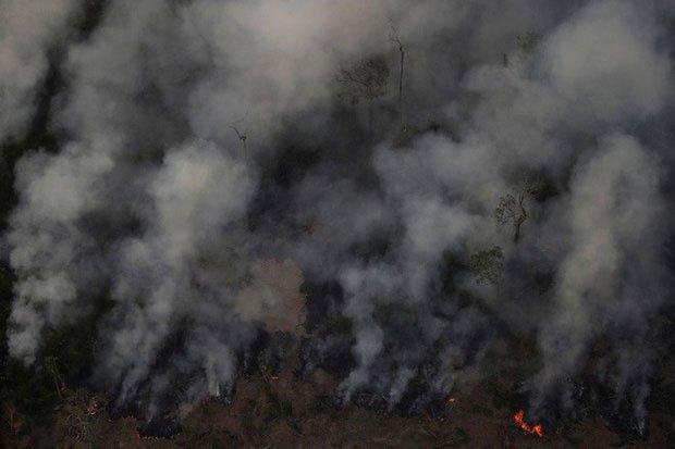NASA cho hay: Cháy rừng Amazon đã vượt tầm châu lục