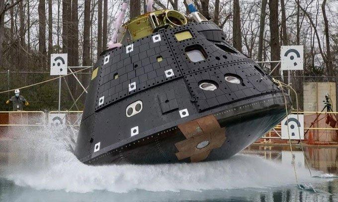NASA sắp thả rơi tàu vũ trụ 6 tấn xuống bể nước