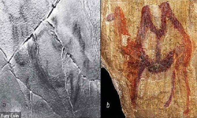 Ngà voi 13.000 năm khắc hình lạc đà kịch chiến