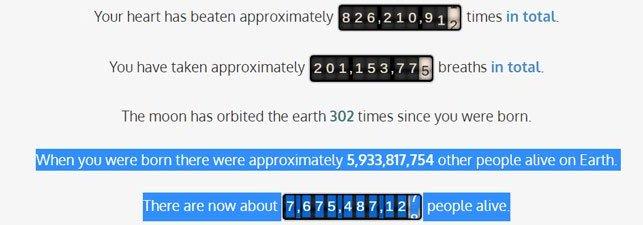 Ngày bạn ra đời thế giới có gì đặc biệt? Website này sẽ cho bạn câu trả lời!