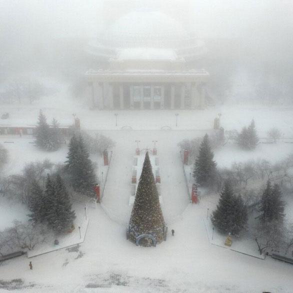 Ngỡ ngàng khung cảnh mùa đông - 45 độ