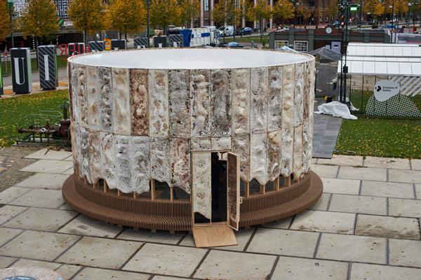 Ngôi nhà phủ nấm thân thiện với Trái Đất: nấm càng tươi tốt, nó càng hút thêm nhiều CO2 khỏi không khí