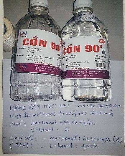Nguy hiểm khi uống và dùng cồn 90 độ sát khuẩn