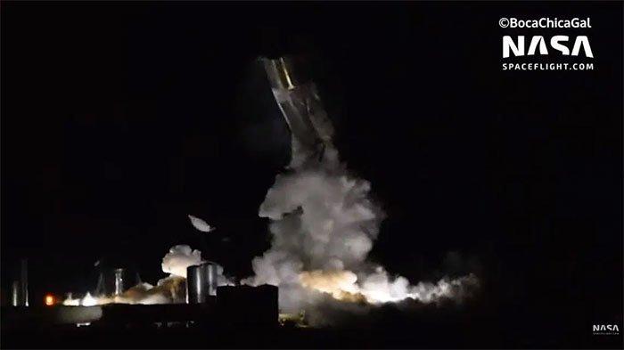 Nguyên mẫu tàu Starship nổ tung trong thử nghiệm