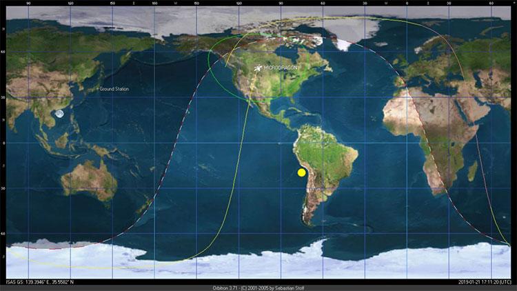 Những bức ảnh đầu tiên được gửi về từ vệ tinh MicroDragon