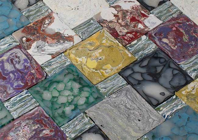 Những viên đá lát tuyệt đẹp từ rác thải nhựa