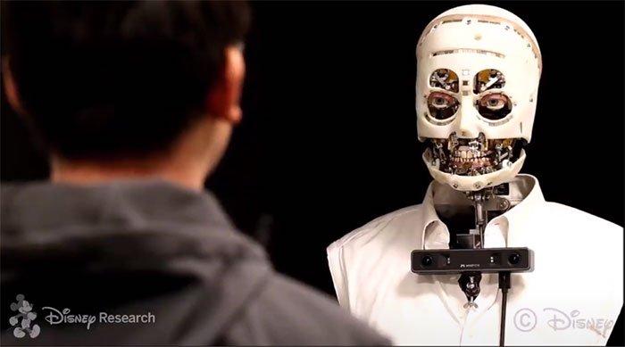 Nổi da gà với robot không da có ánh mắt như người