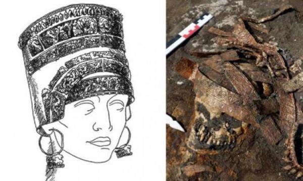 Phát hiện 4 hài cốt hàng nghìn năm tuổi chôn cùng chiếc mũ vàng