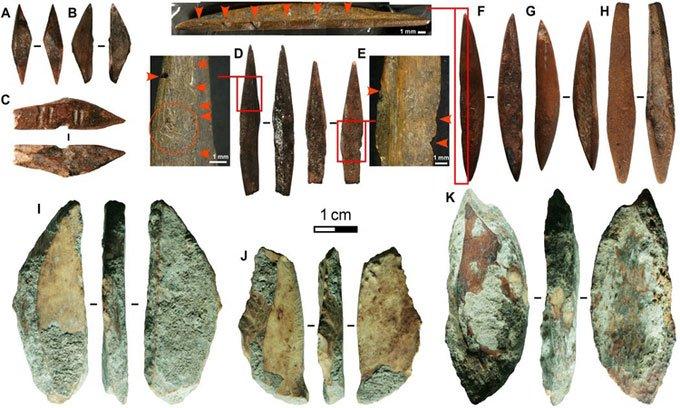 Phát hiện đầu mũi tên 48.000 năm tuổi bằng xương động vật