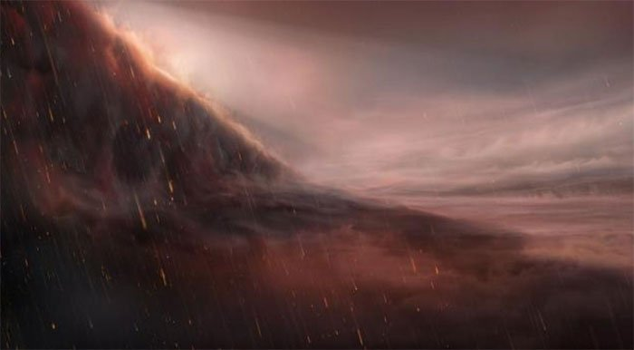 Phát hiện mưa sắt kỳ lạ trên một ngoại hành tinh