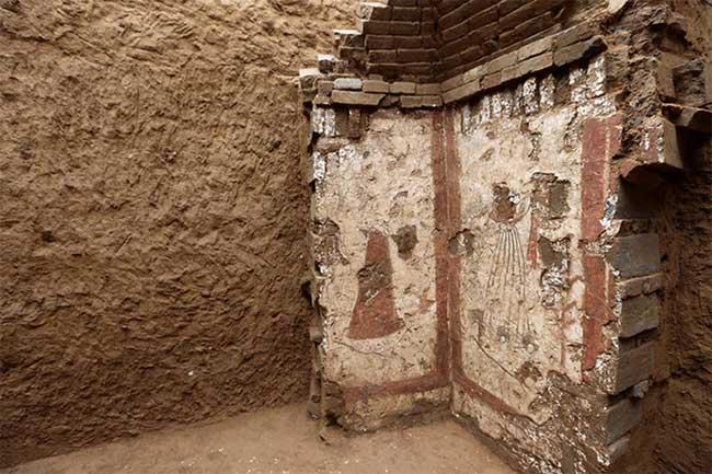 Phát hiện nhiều tranh tường hiếm trong mộ cổ ở Thiểm Tây, Trung Quốc