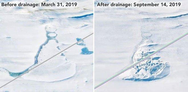 Phát hiện những hồ nước bí ẩn chứa đá quý dưới lớp băng ở Nam Cực