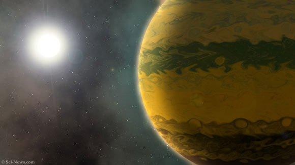 Phát hiện siêu hành tinh còn sơ sinh đã nặng bằng 133 Trái đất
