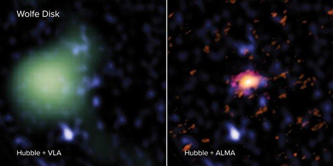 Phát hiện thiên hà hình đĩa cổ xưa nhất