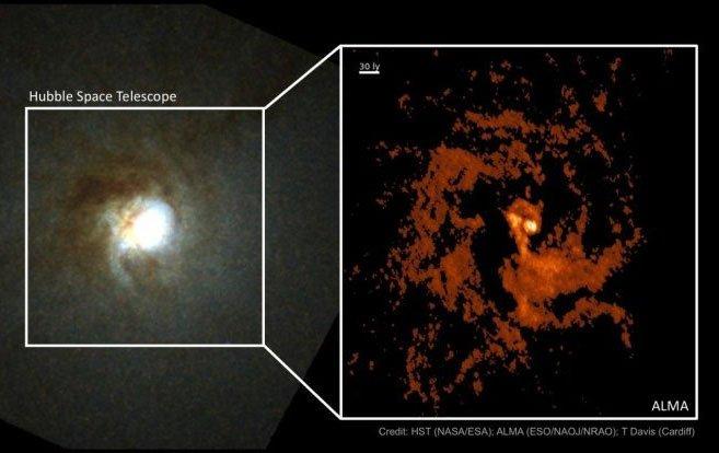 Phát hiện thiên hà ma quái mang trái tim kho báu 550.000 Mặt trời