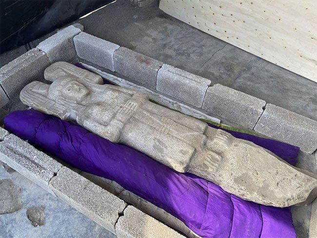 Phát hiện tượng điêu khắc hiếm 500 năm tuổi ở Mexico