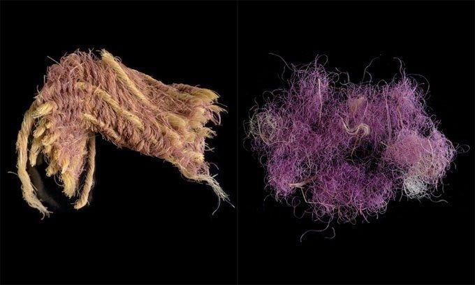 Phát hiện vải nhuộm màu tím hoàng gia 3.000 năm tuổi