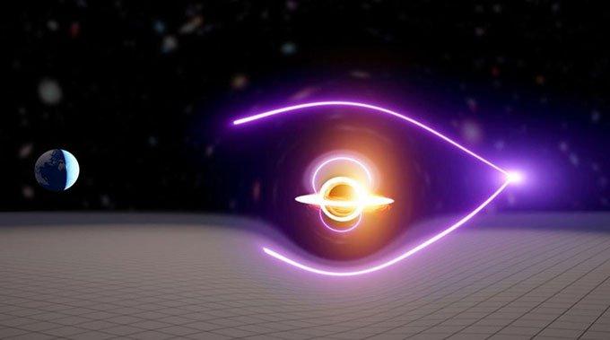 Phát hiện vụ nổ tia gamma chiếu sáng hố đen