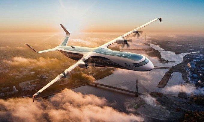 Phát triển máy bay lai xăng điện lớn nhất thế giới