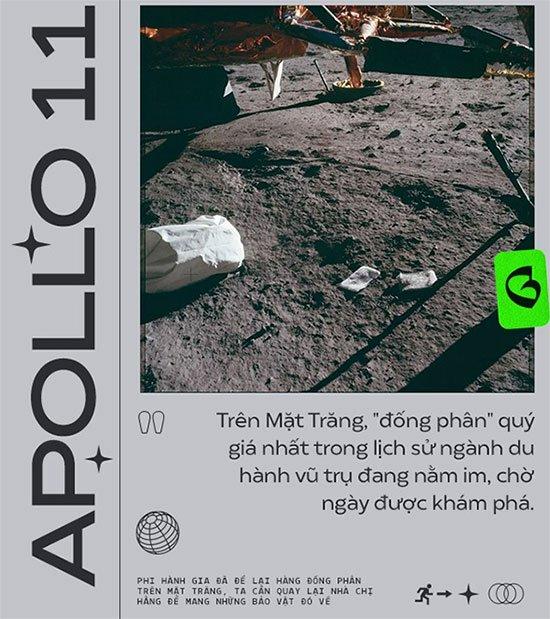 Phi hành gia đã để lại hàng đống phân trên Mặt Trăng và chúng ta sẽ phải mang nó về