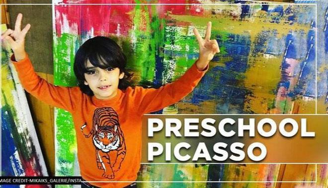 Picasso nhí của Đức gây ra cơn bão trong thế giới nghệ thuật dù mới chỉ 7 tuổi