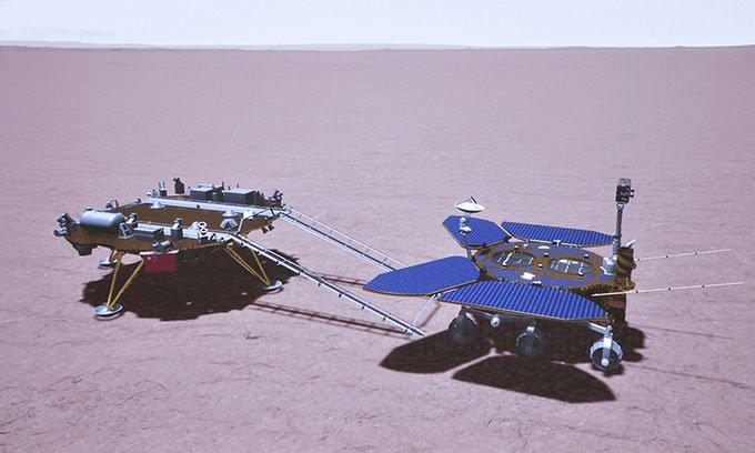 Robot Trung Quốc lăn bánh trên bề mặt sao Hỏa