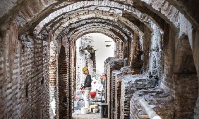 Rome lần đầu mở cửa đường hầm bên dưới Đấu trường La Mã