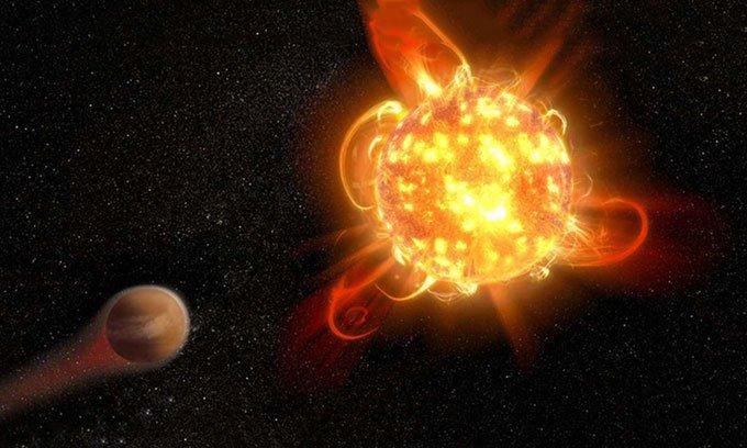 Siêu quầng lửa cản trở sự sống hình thành quanh sao lùn đỏ