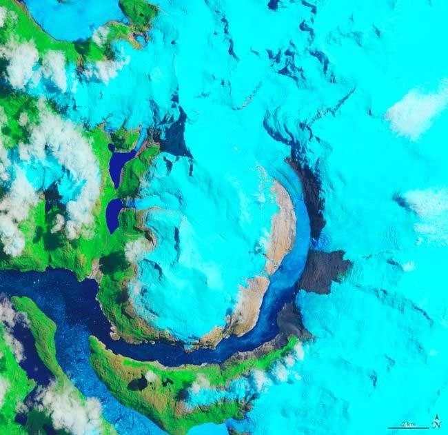 Sông băng tan chảy nhanh nhất thế giới qua ảnh vệ tinh cách nhau 30 năm