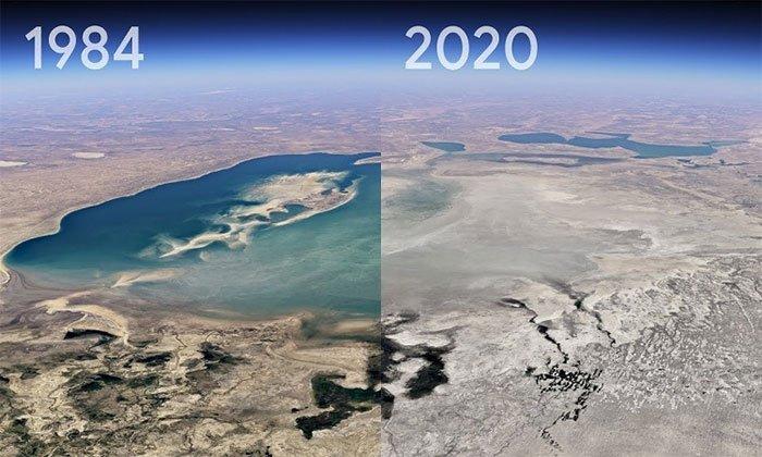 Sự thay đổi của Trái đất trong gần 4 thập kỷ