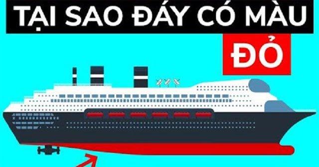 Tại sao tàu thuyền sơn màu đỏ phần đáy?
