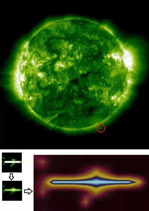 Tại sao trong tấm ảnh Mặt Trời của NASA chụp lại có một hình vuông đen ngòm như thế này?