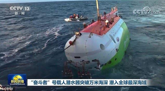 Tàu lặn Trung Quốc lập kỷ lục đưa người xuống đáy vực sâu nhất Trái đất