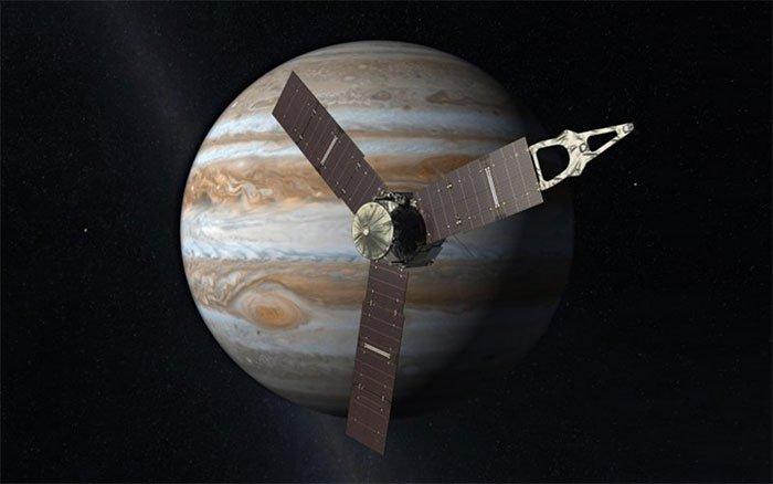 Tàu NASA thoát chết cóng trong bóng tối sao Mộc