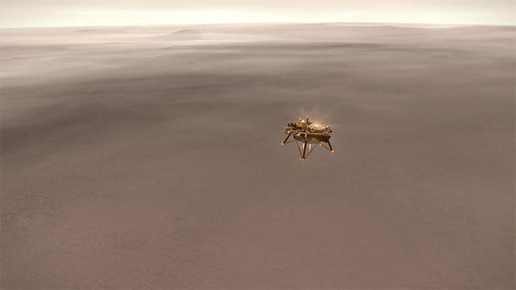 Tàu thăm dò InSight hạ cánh thành công xuống bề mặt sao Hỏa, một kỷ nguyên mới vừa mở ra