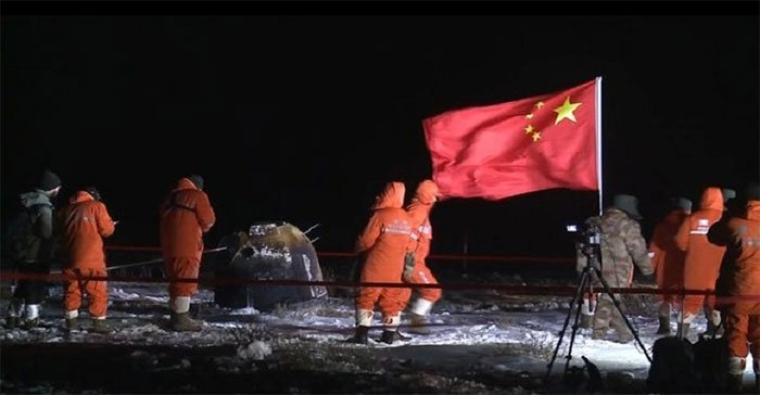 Tàu Trung Quốc đưa mẫu vật Mặt trăng về Trái đất