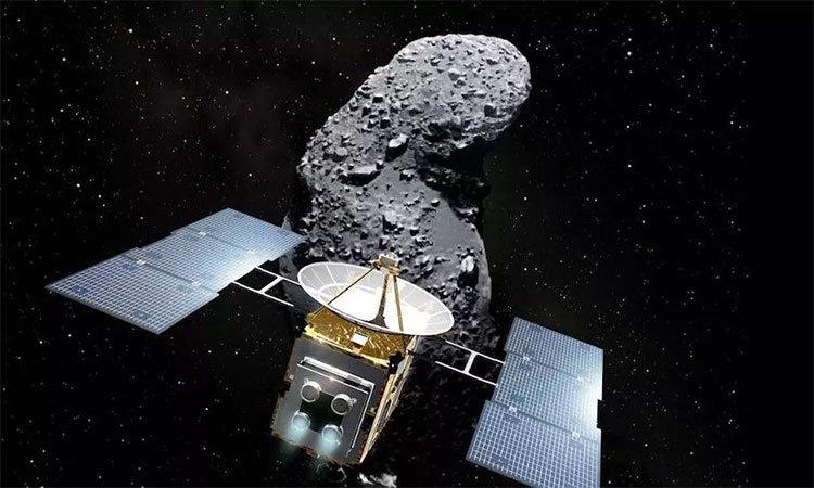 Tàu vũ trụ của Nhật chạm vào tiểu hành tinh cách Trái Đất 300 triệu km