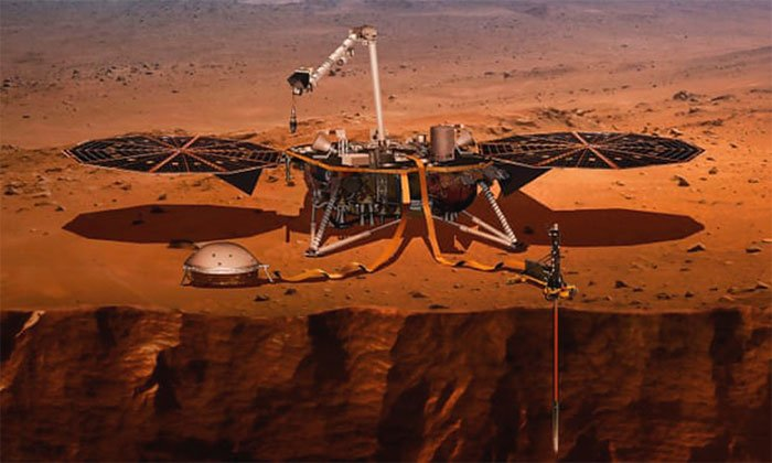 Tàu vũ trụ NASA phát hiện hàng trăm trận động đất sao Hỏa