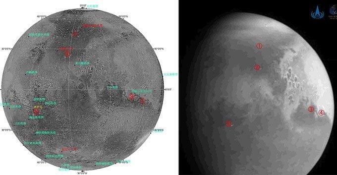 Tàu vũ trụ Trung Quốc lần đầu tiên chụp ảnh sao Hỏa