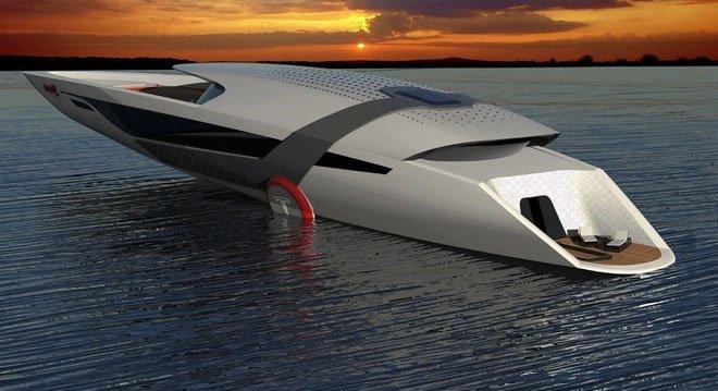Tesla sẽ sản xuất siêu du thuyền có khả năng tự sạc điện