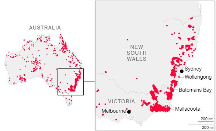 Thảm họa cháy rừng ở Australia qua những con số